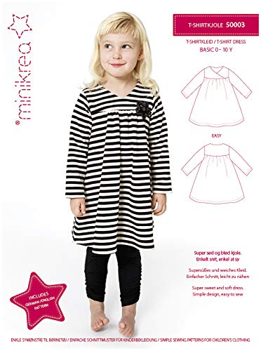 MAGAM-Stoffe T-Shirt Kleid Schnittmuster Kinder inkl. Aufnäher Enno