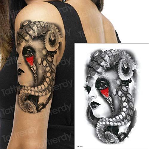 tzxdbh 3pcs Reloj-Crow Horror Nubes oscuras pirámide diseño del Tatuaje del Tatuaje del escorpión escorpión Tatuajes temporales para los Hombres celebridades Estilo brújula Harry 3pcs 21