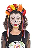 amscan Day of The Dead Floral Headband One Size, Multicolor