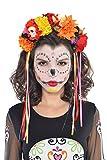 Amscan International Banda PELO DE HALLOWEEN aliceband TIARA El Día de los Muertos trajes de equipamiento