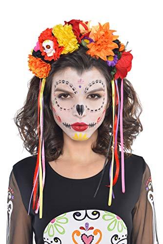 Amscan International Banda PELO DE HALLOWEEN aliceband TIARA El Da de los Muertos trajes de equipamiento