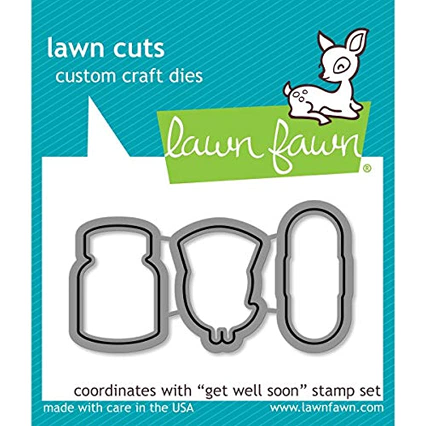 Lawn Fawn Lf683 Lawn Cuts Custom Craft Die-Get Well Soon
