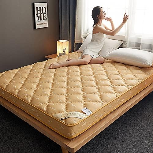 Japansk golvmadrass i full storlek,hopfällbar futon tatami madrass,tatami golvmatta drottning,Roll Up Camping Madrass,Andningsbar futon säng för student sovsal,hem,hotell,Camel,180x200cm(71 * 79inch)