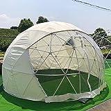 Dome 3,6 m Geo Garden Dining Outdoor Iglu-Pod – Cremefarbener Sommer-Unterschlupf für Garten, Kneipen & Restuarts