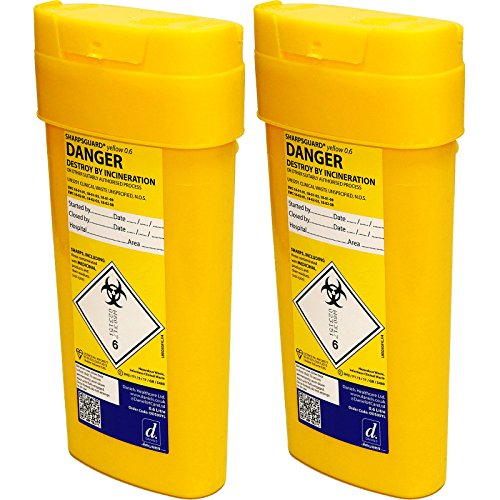 qualicare Sharpsafe Nadel Spritze Insulin Entsorgung Operation Mülleimer Box-0,6Liter, Twin Pack