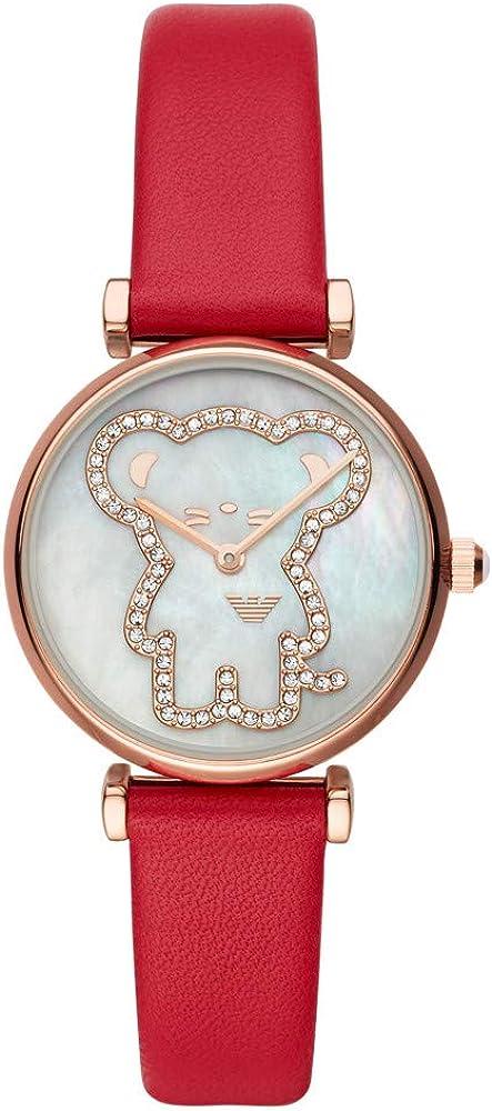 Emporio armani gianni t-bar orologio da donna quadrante in madreperla e cassa in acciaio inossidabile AR11281