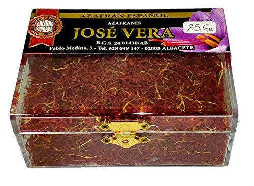 Azafrán Español de Calidad Suprema (Categoría I ISO 3632-2), Elaboración tradicional, gran aroma y sabor, 25g
