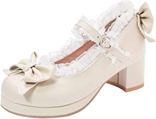 Melady Women Sweet Bow Shoes Ankle Strap Pumps