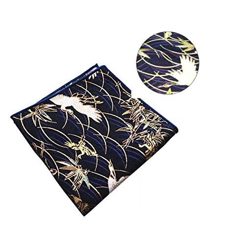Maya Star De Estilo japonés Hecho a Mano Bronceador Impreso Algodón Tejidos - Regalos de DIY Bolsa/Kimono/Fundas de Almohada/Monedero (grúa)