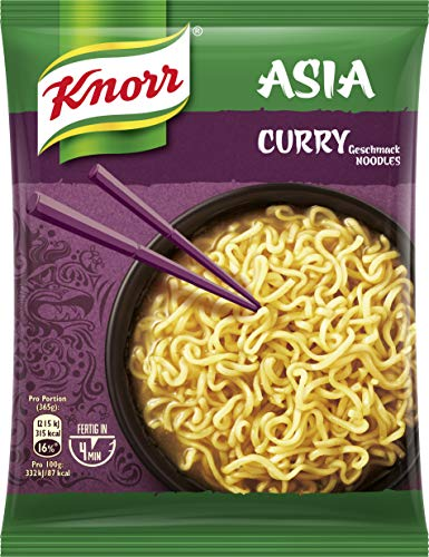 Knorr Noodle Express Asia Curry 1 Portion, 11er-Pack (11 x 70g)