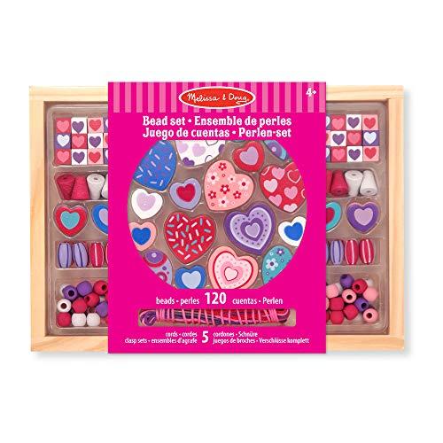 Melissa & Doug Sweet Hearts Bead Set | Arts & Crafts | DIY | 4+ | Gift for Boy or Girl