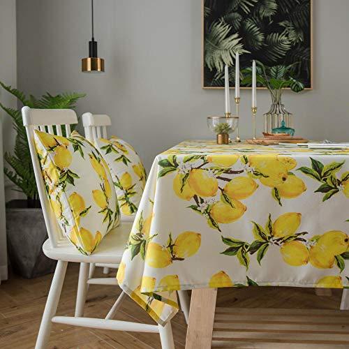 Alayth tafelkleed tuintafel waterdicht fris geel tafelkleed met citroenprint salontafelkleed