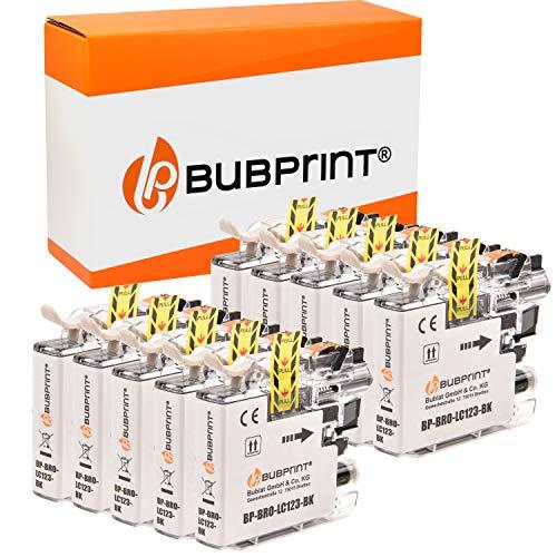 Bubprint Kompatibel Schwarz Druckerpatronen als Ersatz für Brother LC-123BK LC123BK LC-123 LC-127 MFC-J4510DW MFC-J470DW MFC-J6520DW MFC-J6720DW MFC-J6920DW MFC-J870DW 10er-Pack