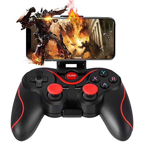 Gamepad, WZTO Mando para PC Inalámbrico Compatible con PC (Windows XP / 7/8 / 8.1 / 10) y PS3, Android, Vista y Rango de Hasta 10M