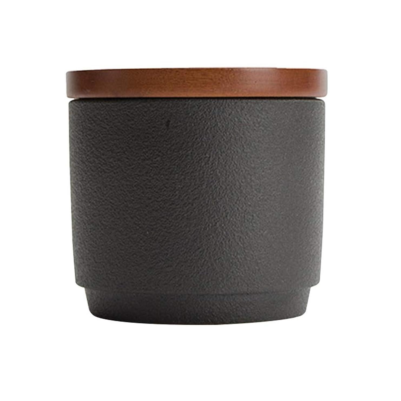 感性リングレット伝記ミニ骨壷大人の子供の灰の貯蔵タンクは葬儀のお土産を密封 (Color : Black)