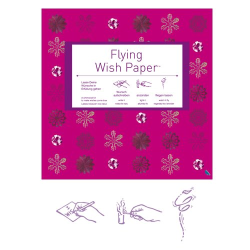 Flying Wish Paper Big Pink Xmas Contento
