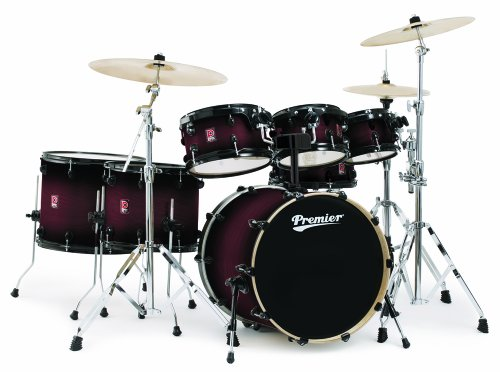 Premier Drums XPK Exclusive Birch Series 6489952CBS 5-Piece Drum Set, Cherry Burst Satin