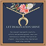 Friendship Gifts Best Friend Necklace, Triangle Necklace Friendship Gifts Arrow Necklace Gifts for Teen Girls Friends Matching Necklaces for Best Friends Graduation Gifts for Her (moon)