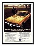 iPosters Ford Capri Gold Auto Werbung schwarz drucken