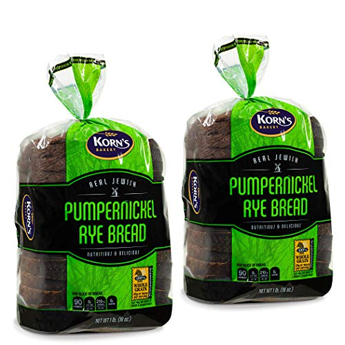 Pumpernickel Bread | Sandwich Bread | Loaf of Bread | Pumpernickle Rye Bread | Dairy, Nut & Soy Free | 2 Pack- 16 oz Per Pre Sliced Loaf of Bread | 2-3 Day Shipping | Stern's Bakery