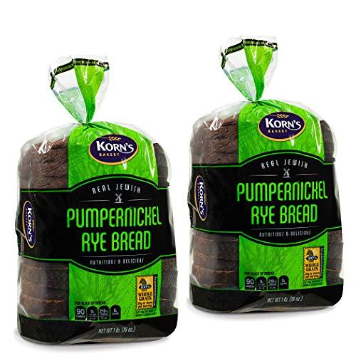 Pumpernickel Bread | Sandwich Bread | Loaf of Bread | Pumpernickle Rye Bread | Dairy, Nut & Soy Free | 2 Pack- 16 oz Per Pre Sliced Loaf of Bread | 2-3 Day Shipping | Stern's Bakery