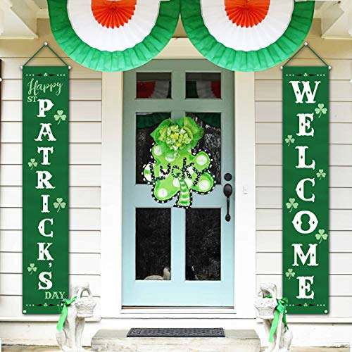 St Patricks Day Decorations Outdoor - Irish Shamrock Décor for the Home Party Door Tree Classroom Office