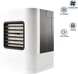 Yajun Aire Acondicionado Enfriador PortáTil Cooler Ventilador Evaporativo Silenciosa Uso DoméStico O De Oficina Personalizado PequeñO Hogar Negro USB