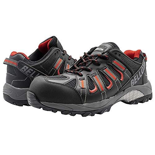 Bellota 72211N45S1P - Zapatos de hombre y mujer Trail de seguridad con diseño tipo deportivo o motaña, negro, 45 eu
