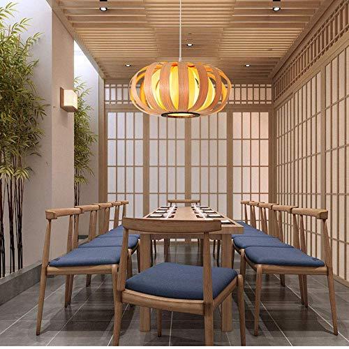 Lámpara colgante de linterna de estilo retro pantalla de bambú dormitorio sala de estar lámpara de techo salón de té comedor bar café club lámpara colgante de bambú E27