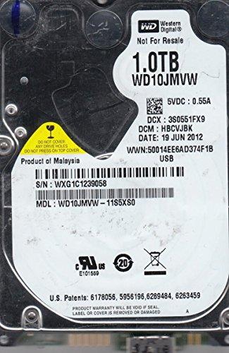 wd10jmvw-11s5X S0, DCM hbcvjbk, Western Digital 1TB USB 2.5Disco Duro