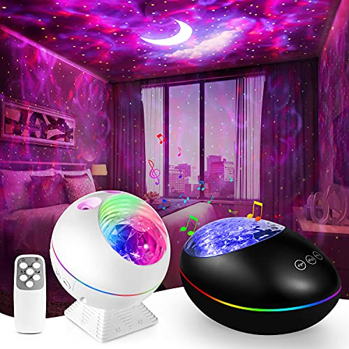 Star Projector,Galaxy Night Light Lamp Sky Lite Skylight Room Bedroom Decor,Led Cloud Ceiling Adults Ocean Nebula Voice Control Timer Kid Starry Starlight Night-Lights Birthday Gifts Womem Mom Remote