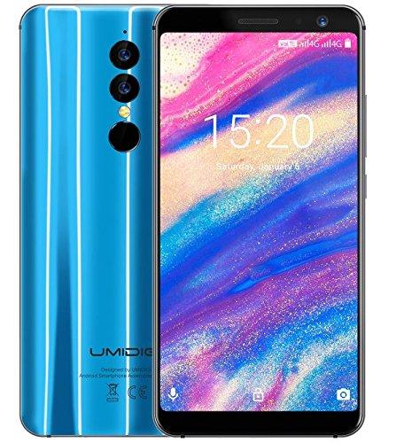 UMIDIGI A1 Pro - 5.5 Pulgadas (relación 18: 9) HD + Smartphone 4G con Android 8.1, MTK6739 1.5GHz 3GB + 16GB, cámaras triples, reconocimiento Facial, batería de 3150mAh - Azul