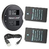 Newmowa EN-EL20 Batteria (confezione da 2) e Doppio Caricatore Rapido per Nikon EN-EL20 Nikon EN-EL20a