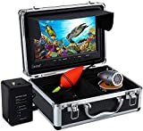 Eyoyo Portable 9 inch LCD Monitor Fish Finder 1000TVL Fishing Camera Waterproof Underwater DVR Video Cam 50m Cable 12pcs IR Infrared LED for Ice,Sea,Lake and Boat Fishing
