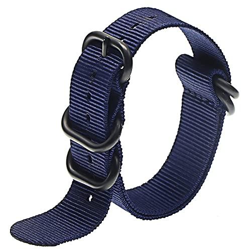 Reloj de bolsillo Correa de banda de reloj de nylon de servicio pesado 18 mm 20 mm 22 mm 24 mm Rayado de rayas Rainbow Reemplazo reloj de reloj de reloj de reloj de reloj Reloj de bolsillo de cuarzo