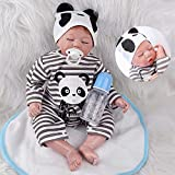 ZIYIUI Reborn Baby 22 Pollici 55 cm Bambola Reborn Maschio Silicone Morbido Vinile Reale Come Realistico...