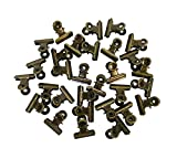 1.25 Inches Metal Bulldog Clips Binder Clips Paper Clips, Pack of 30 (Bronze)