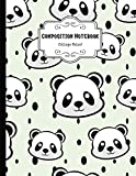 Composition Notebook College Ruled: Funny Panda Notebook | Cute College Ruled Journal for school, college, take notes | For teens, students, teachers, ... Gift or Birthday Present for Adults and Kids