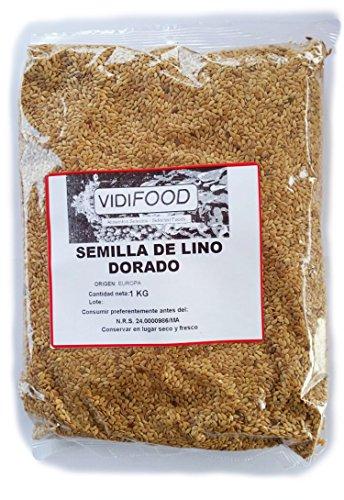 Semillas de Lino Dorado - 1kg - Rica fuente de ácidos