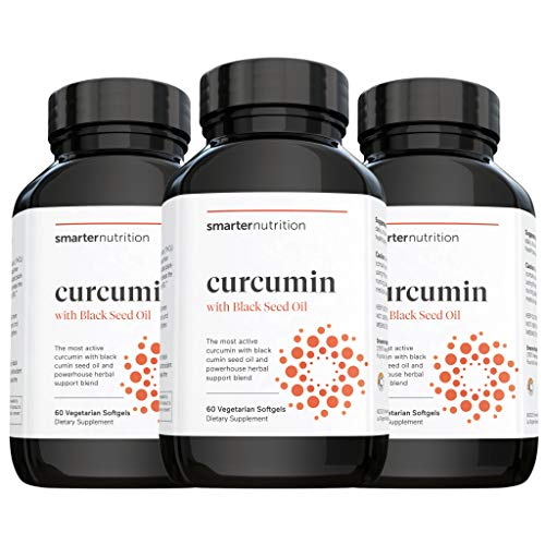 Smarter Turmeric Curcumin - Potency and Absorption in a SoftGel - The Most Active Form of Curcuminoid Found in the Turmeric Root - 95% Tetra-Hydro Curcuminoids (90 Servings) (Packaging May Vary)