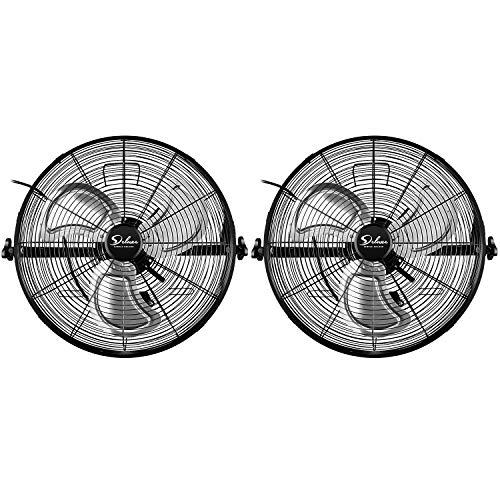 Simple Deluxe 20 Inch High Velocity 3 Speed Industrial Wall-Mount Fan, Black
