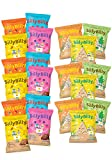 SillyBilly Pack AHORRO Mixto - Snacks ecológicos - 12 bolsas de cuadraditos de espelta, quinoa y fruta + 9 bolsas de tortitas de arroz integral. (Pack 21 bolsitas)