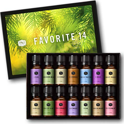 Favorites Set of 14 Premium Grade Fragrance Oils - 10ml