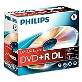 Philips DVD+R DR8S8J05C - DVD+R DL 8.5 GB, 240 min, velocidad 8x