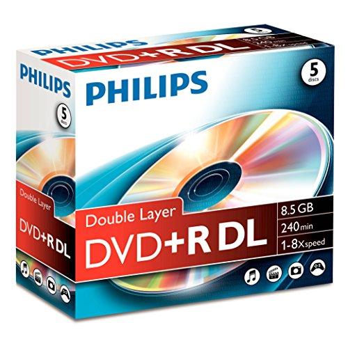 Philips Dvd+r 8.5GB - Confezione da 5