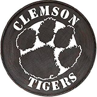 Game Day Outfitters NCAA Clemson Tigers Metal Circle Wall Art, One Size, Multicolor