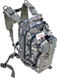 EXPLORER Tactical Backpack 28l-Sport Outdoor Military Rucksack Hiking Camping Mountain Climbing Backpack Combined with 3 Front Molle Pockets Bags Camelbak, Blackhawk Black (ACU Camo Military)
