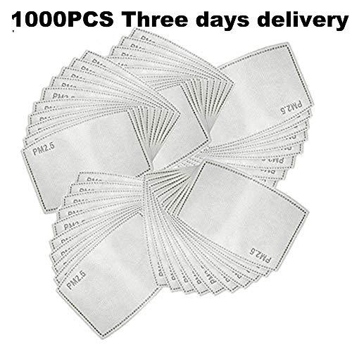 ERLINGO PM2.5 Aktivkohlefilter, 5 Schichten auswechselbare Anti-Dunst-Filter, schützender Luftfilter-Chip für den Außenbereich (1000)