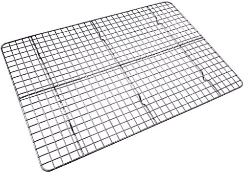Checkered Chef Cooling Rack Baking Rack. Stainless Steel Oven and Dishwasher Safe. Fits Half Sheet...