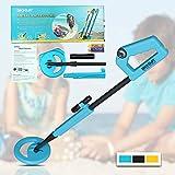 all-sun TS20A Junior Metal Detector for Children DIY Beach Yard Toy, Blue